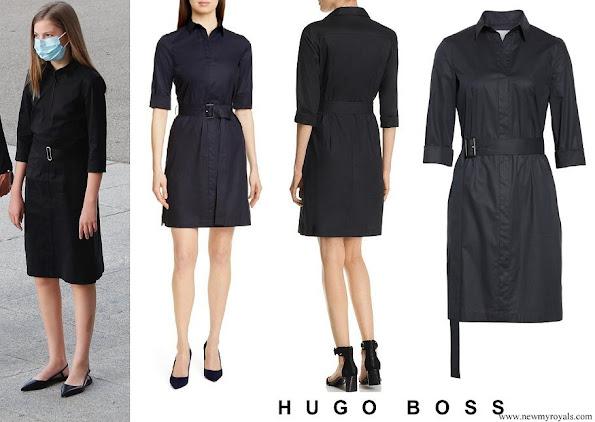 Infanta Sofia wore Hugo Boss Daliri Belted Shirtdress