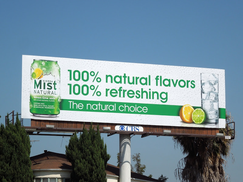 Sierra Mist 100% natural flavors billboard
