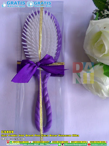 Sisir Paddle Hair Brush Plus Kaca Besar Kemasan Mika