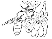 Flying Bee Printable Kids Coloring Pages Free