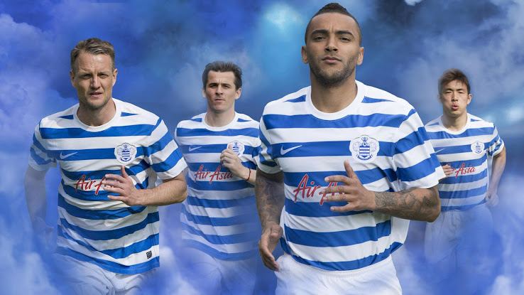 48dfb06ad The new Queens Park Rangers 14-15 Home Jersey features the traditional  hooped design of the kit. Based on the Nike Hoop III Teamwear Kit (the only  teamwear ...