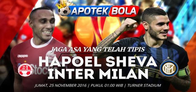 Prediksi Pertandingan - Hapoel Beer Sheva vs Inter Milan 25 November 2016