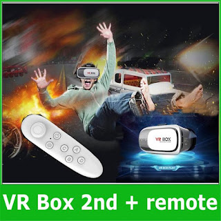 VR BOX + REMOTE CONTROL VIRTUAL 3D ACTION MOVIE