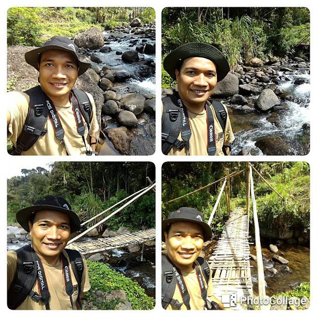 Ilustrasi foto selfie di Sungai Cireong.