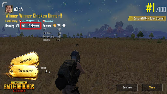 chicken dinner gampang di pubg mobile