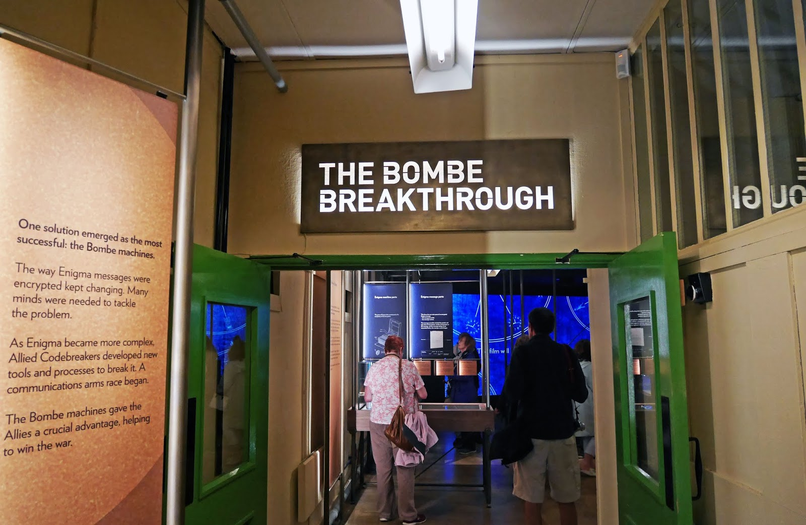 The Bombe Breakthrough exhibition in Hut 11A at Bletchley Park