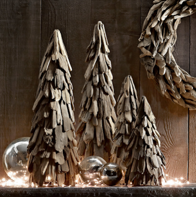 driftwood cone Christmas trees