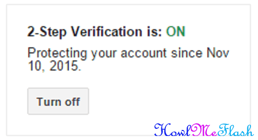 2step verification on