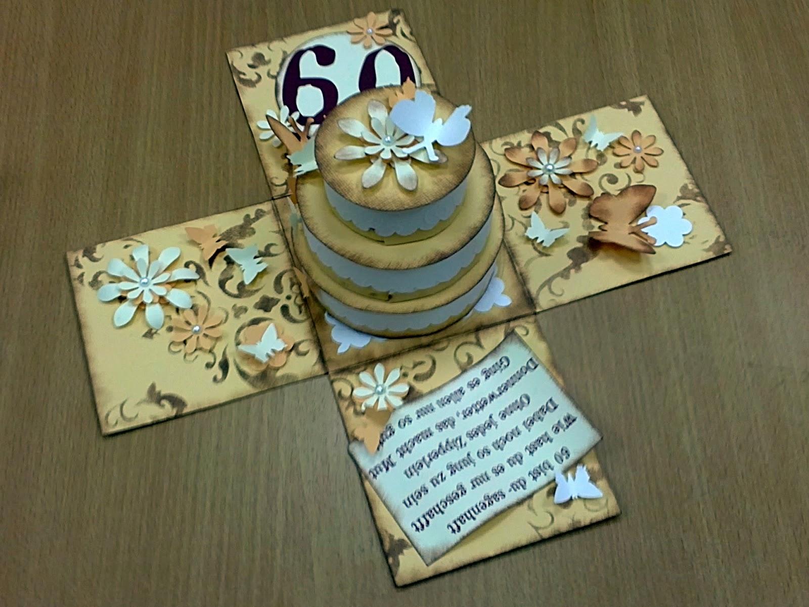 Crafts by Mirka Zum 60 Geburtstag