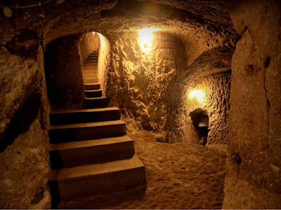 The underground city of Nushabad in Kashan, Isfahan province, is three-stor