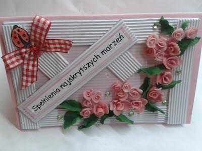 róże z zimnej porcelany