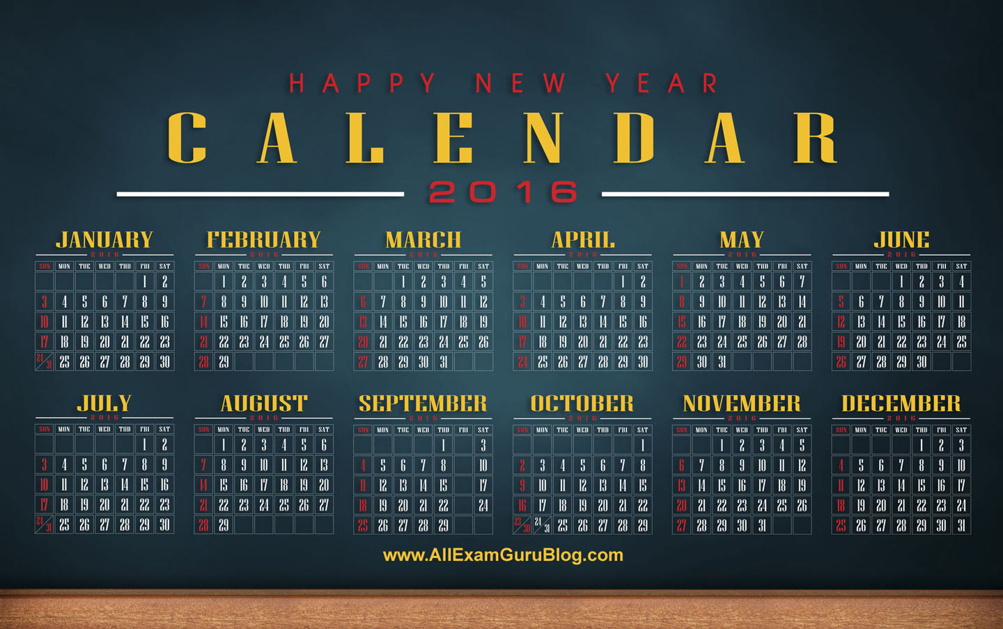 2016 calendar desktop wallpaper calendar 2016 download for Computer planner software