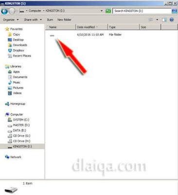 muncul folder dengan kondisi hidden