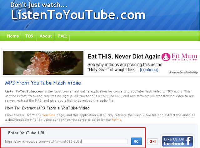Step by Step Download Only Audio from Youtube