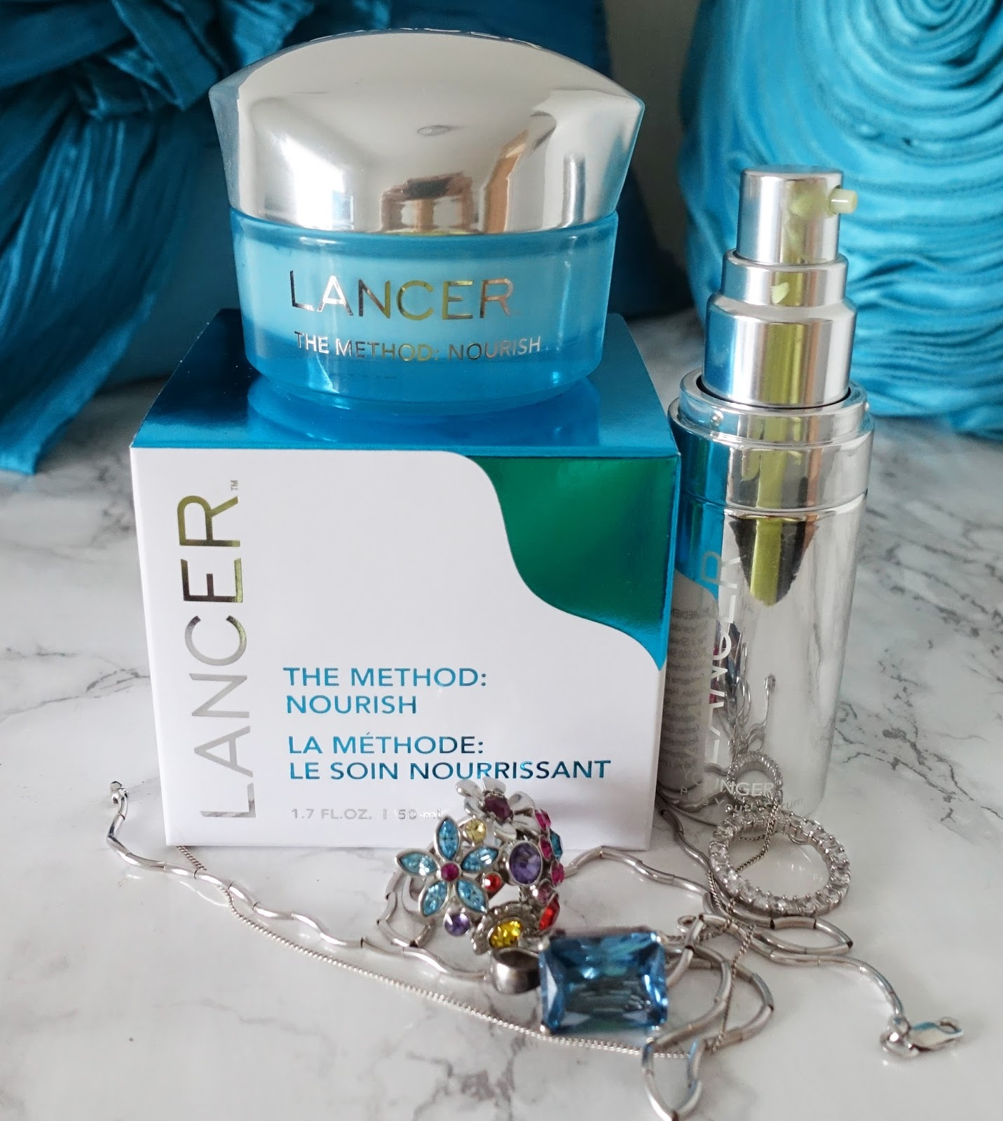 Image showing a close up of Lancer Skincare products Pure Youth Serum and The Method: Nourish. Copyright Is This Mutton?