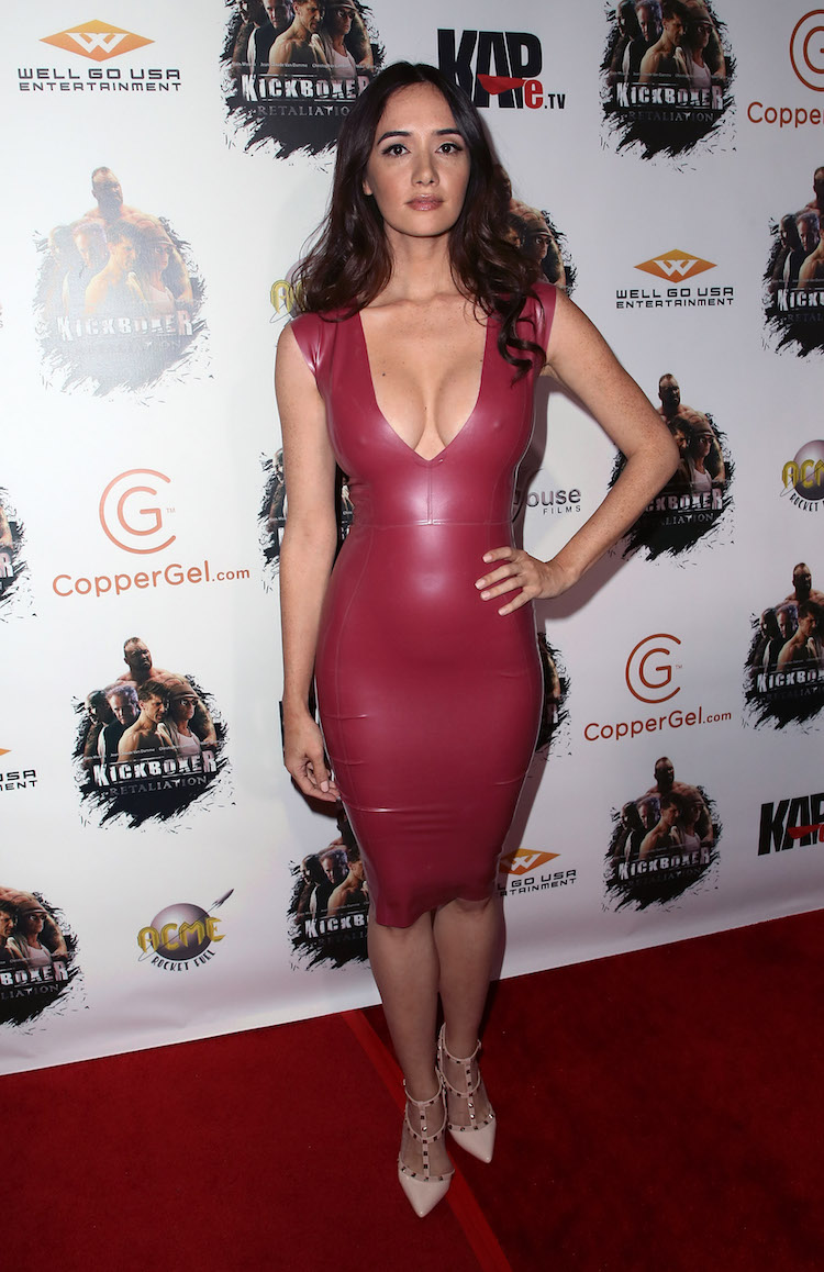 Holly Halston Latex throughout lovely ladies in leather: sara malakul lane in a latex dress