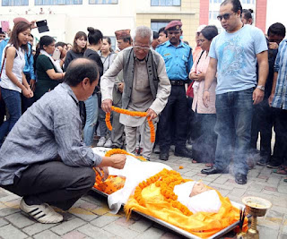 Amber Gurung Family paying tribute