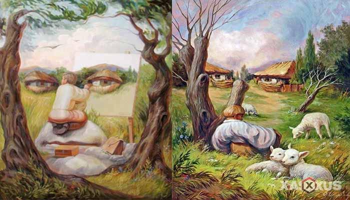 Contoh Aliran Seni Rupa atau Seni Lukis Optik
