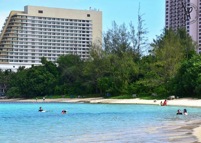 hotels, blue beach, swimming kids