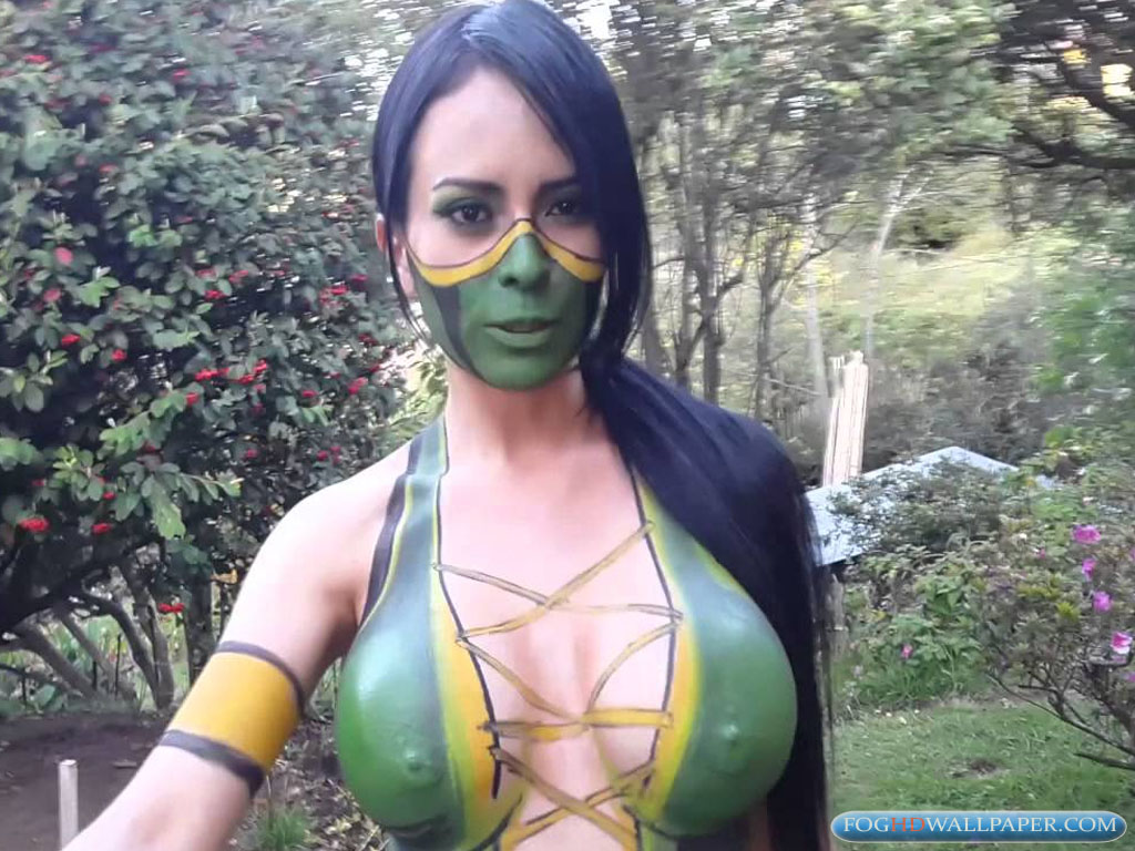 Girls body paint clothes