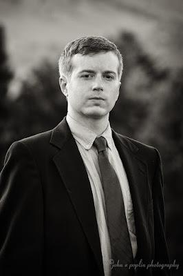 amazing black and white headshot portrait