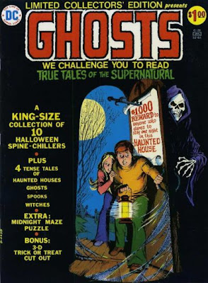 Ghosts DC Comics Limited Collectors Edition, two children enter a haunted house as a skeleton watches from behind the door