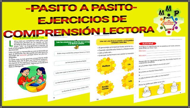 PASITO A PASITO-COMPRENSIÓN LECTORA