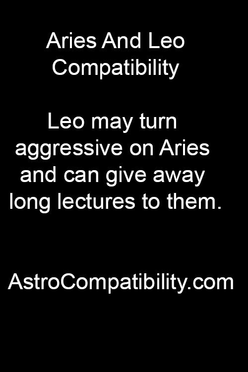 Leo woman with aries man