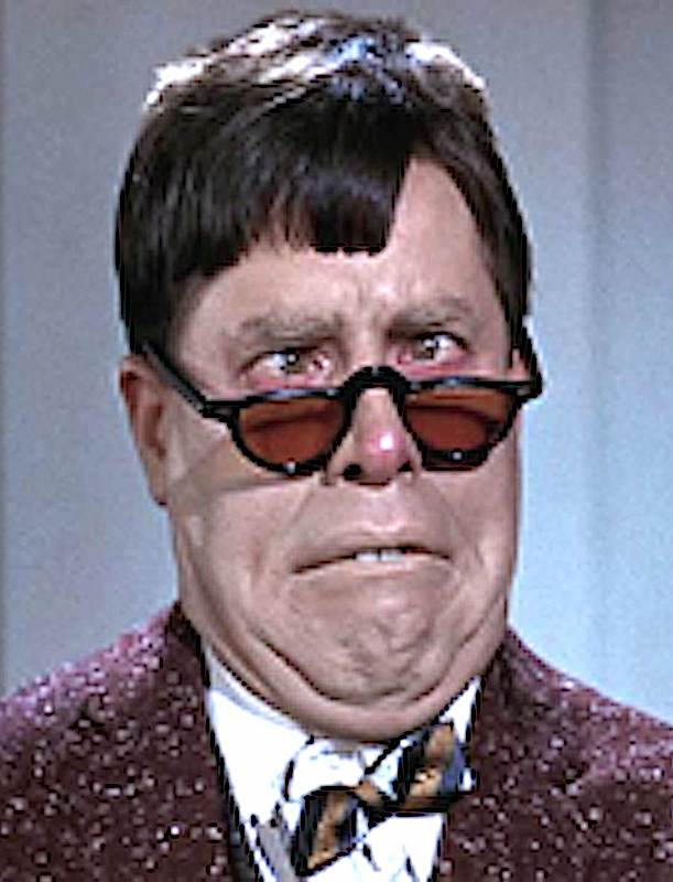 Jerry Lewis with a crazy face