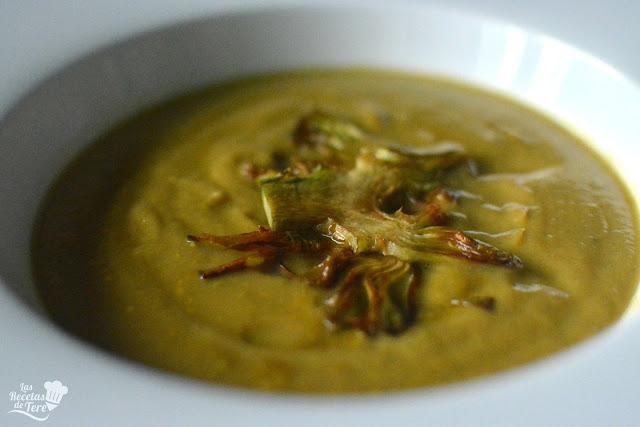 receta de crema de alcachofas tererecetas 03