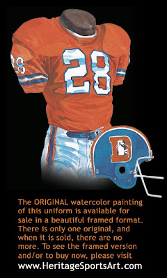 Denver Broncos 1977 uniform