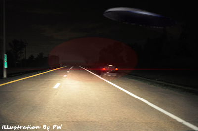 Large UFO Sighting Over Highway 13
