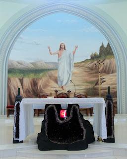 Pintura Atrás do Altar da Igreja de Pedras, em Ametista do Sul