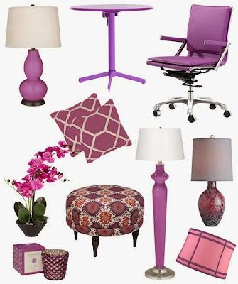piezas en tono lila
