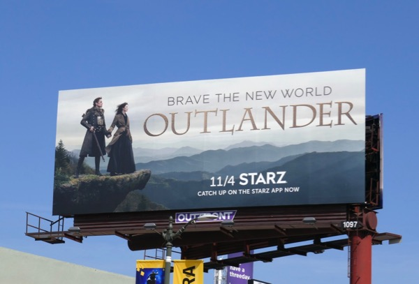 Daily Billboard: Outlander season 4 TV billboards    Advertising for