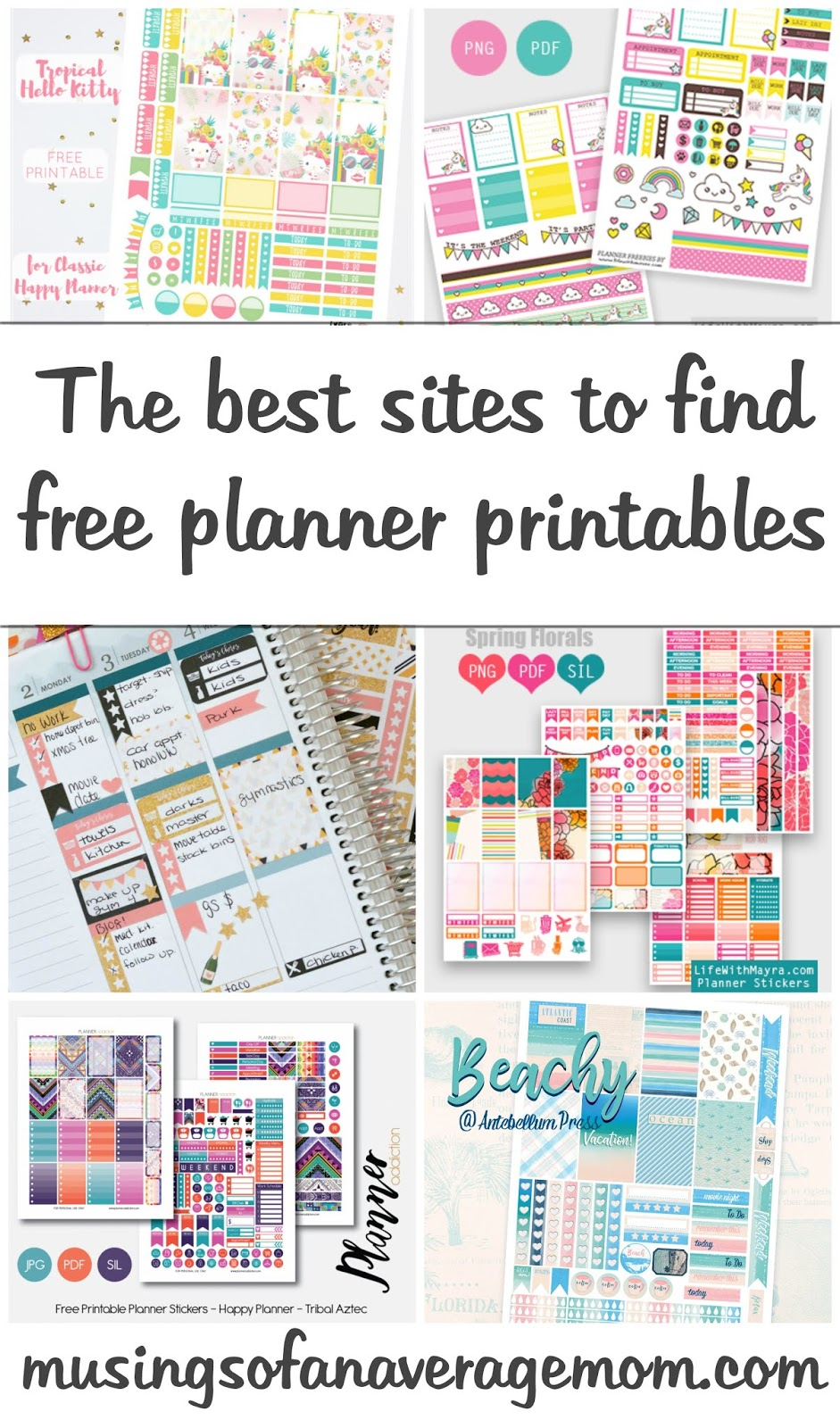picture relating to Free Happy Planner Printables called Musings of an Typical Mother: In which in direction of Come across Free of charge Content Planner