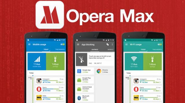 تطبيق Opera Max لتوفير إستهلاك بيانات الانترنت فى هواتف الاندرويد