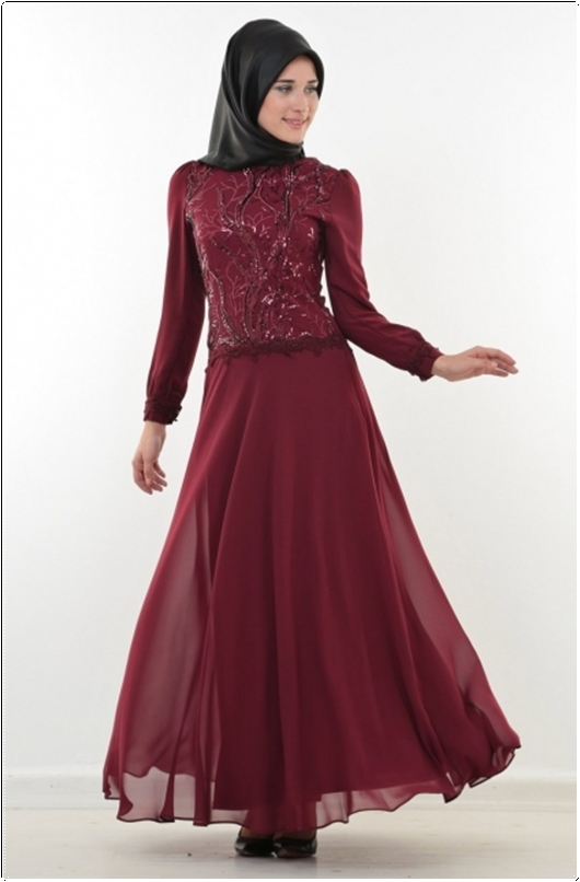c96464a290bb0 Tesettür İstanbul: Puane 2016 Tesettür Elbise Modelleri