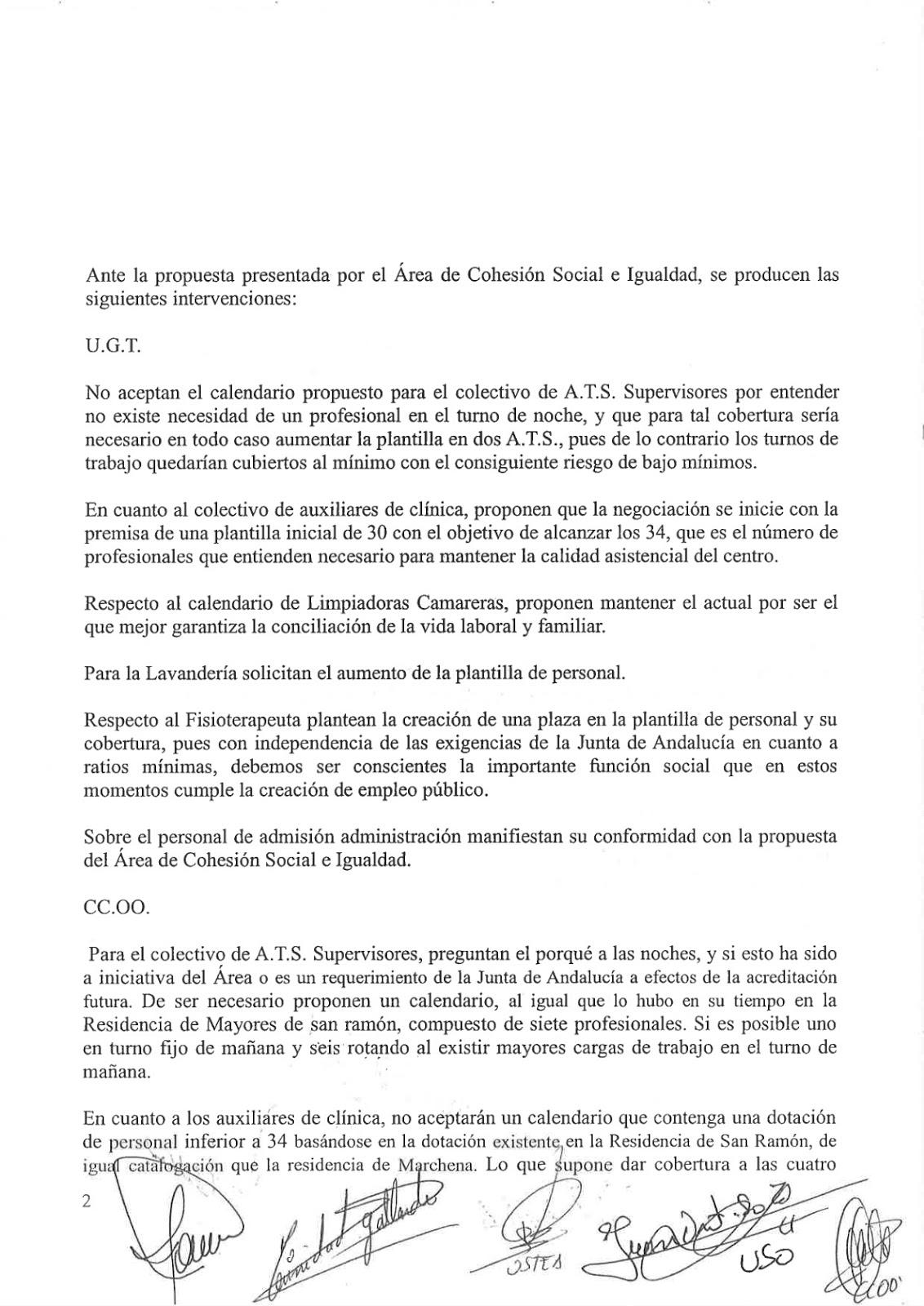 UNIÓN SINDICAL OBRERA DIPUTACIÓN DE SEVILLA: ACTA SEGUNDA REUNIÓN ...