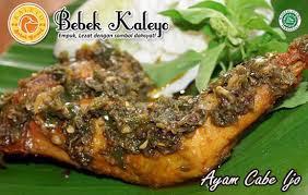 Kuliner Indonesia - Bebek Kaleyo