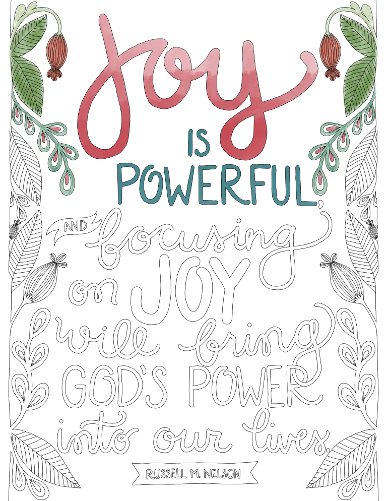 just what i {squeeze} in: Fullness of Joy - Coloring Page #26
