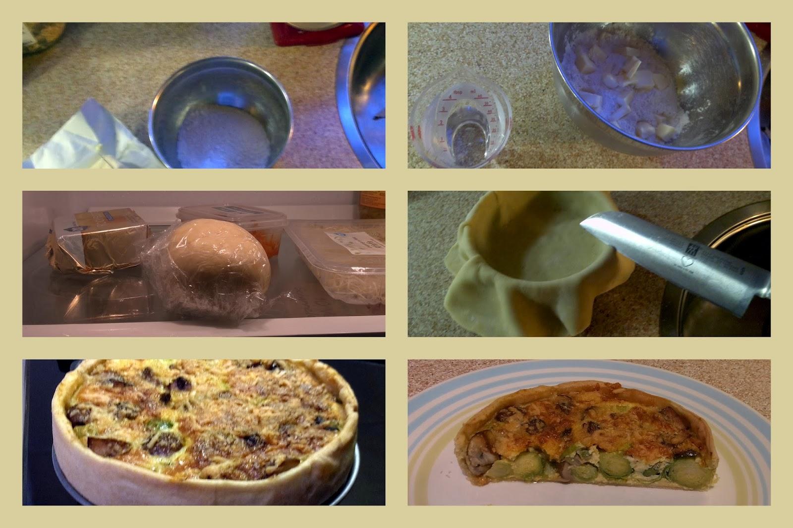 Deegrecept voor quiche / hartige taart