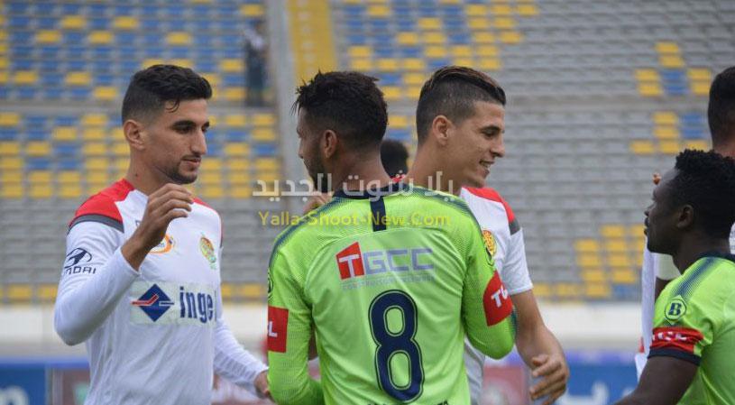 الوداد يحقق الفوز الاولي له في الدوري المغربي على فريق الدفاع الحسني الجديدي بهدف نظيف