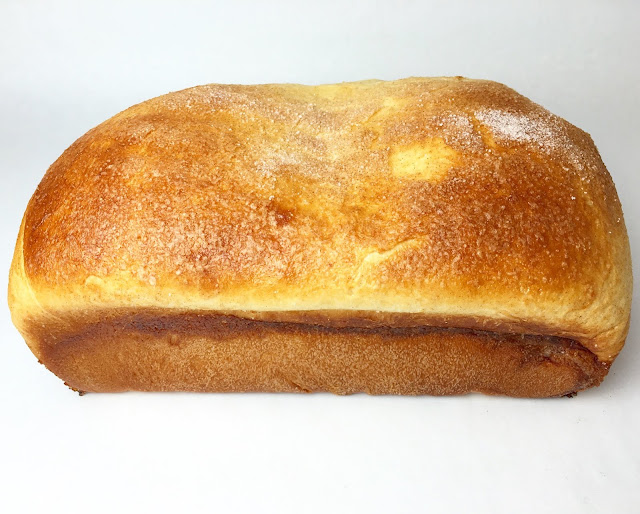 Baked Loaf of Cheesecake Bread