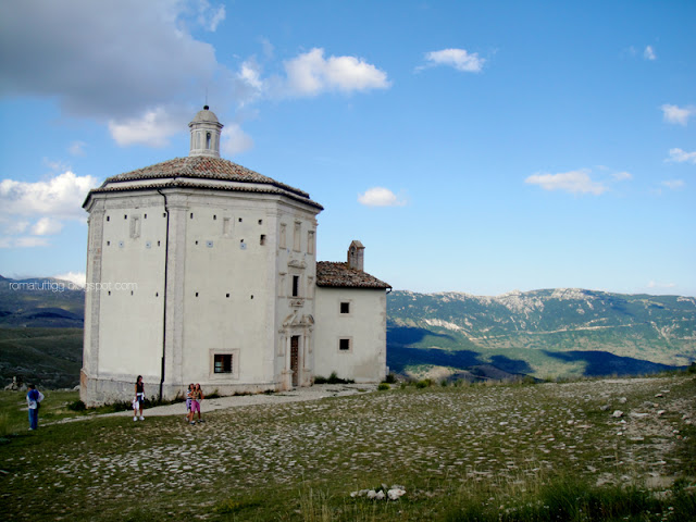 17th century church in Rocca Calascio