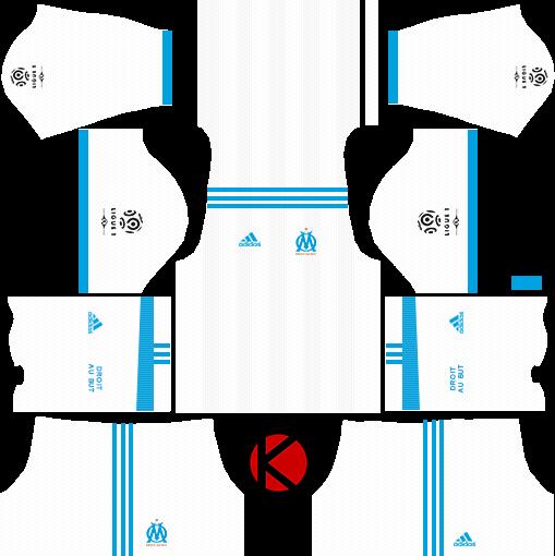 Olympique De Marseille Kits 2017 2018 Dream League Soccer