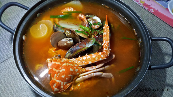 Haemul-tang at Korean Grill Bacolod restaurant