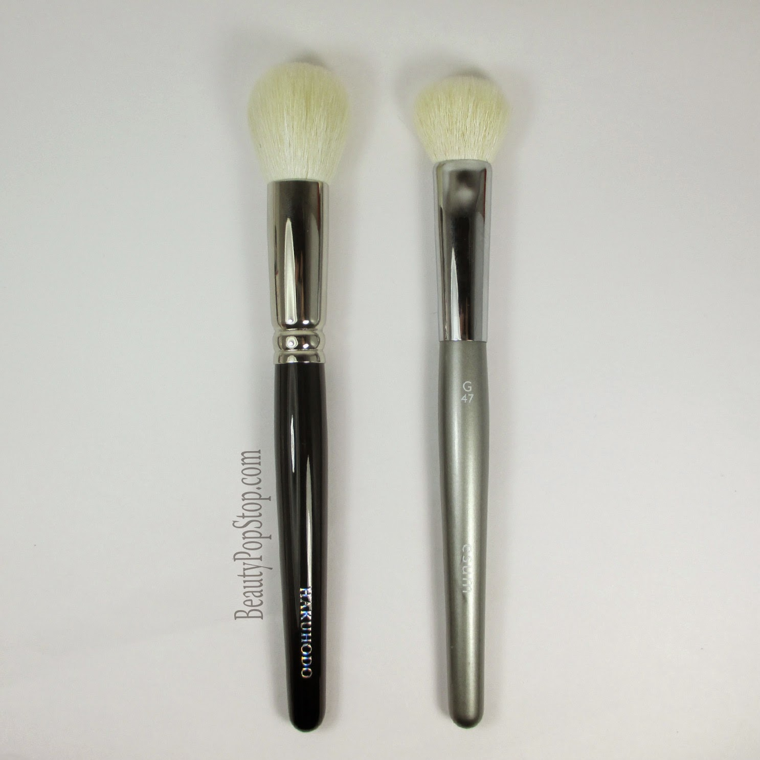 hakuhodo j210 vs esum g47 makeup brush comparison
