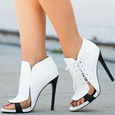 White pumps heels