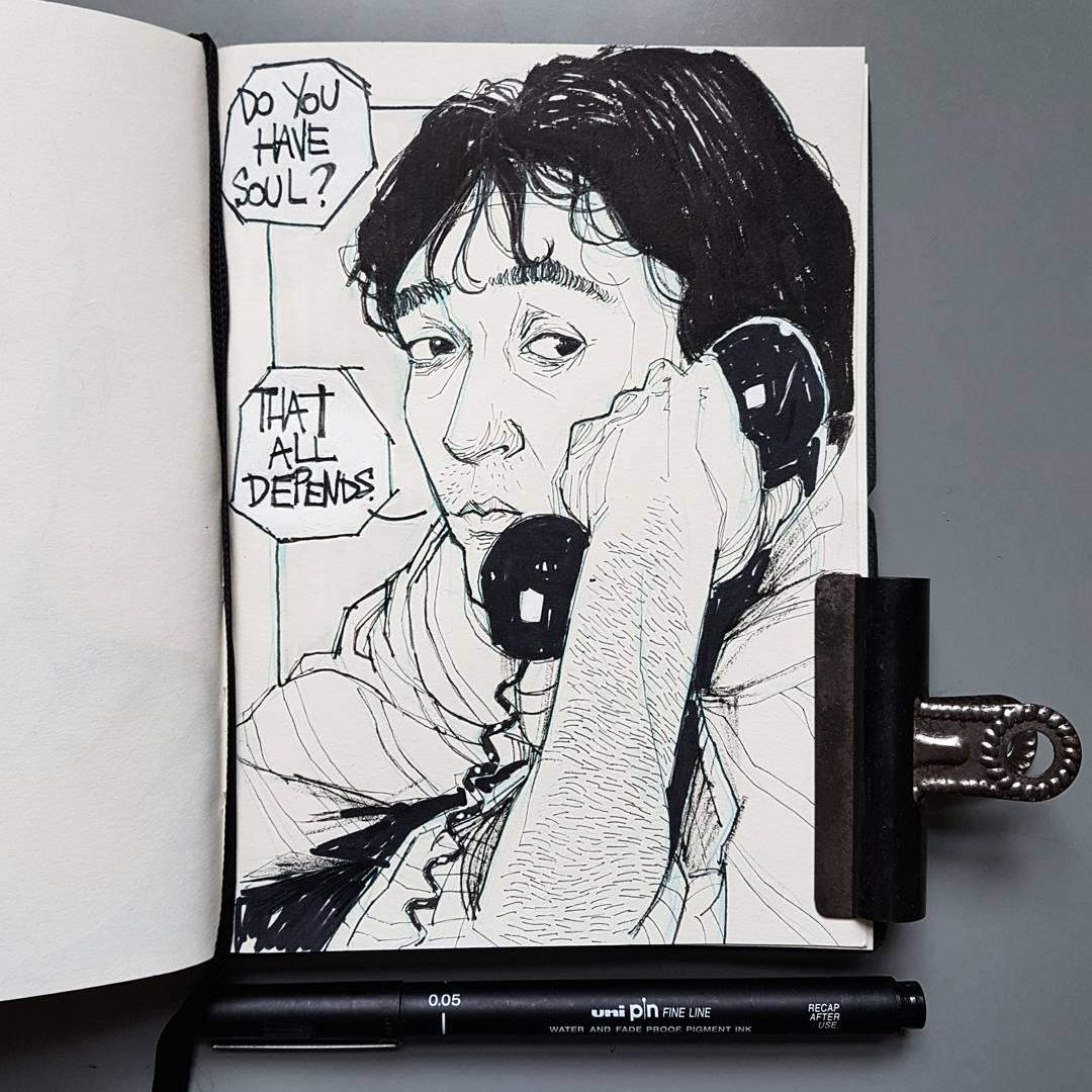 High Fidelity John Cusack Illustration